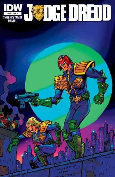 Оригинальная обложка комикса судья дредд 016 (IDW)