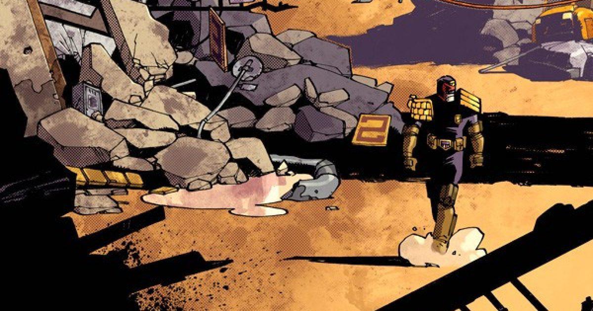 Оригинальная обложка комикса судья дредд 022 (IDW)