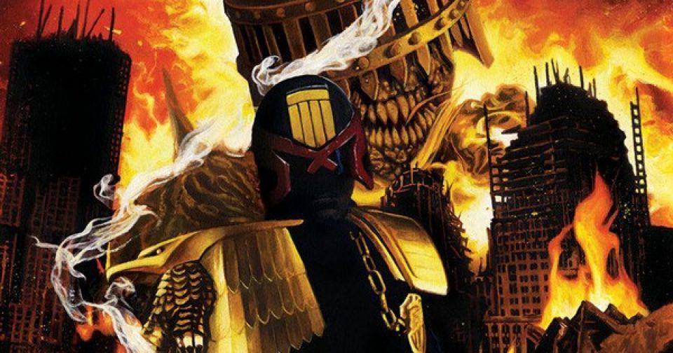 Оригинальная обложка комикса судья дредд 024 (IDW)
