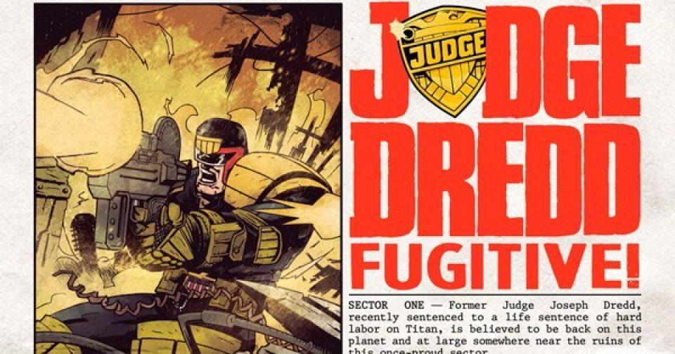 Оригинальная обложка комикса судья дредд 025 (IDW)