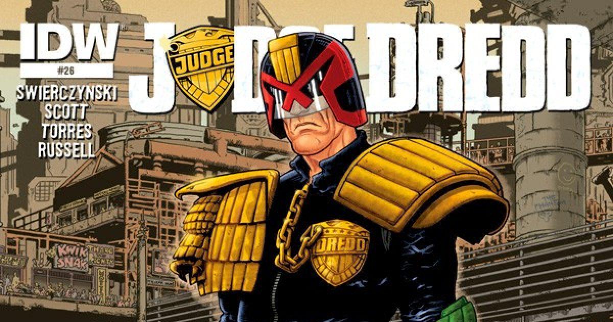 Оригинальная обложка комикса судья дредд 026 (IDW)