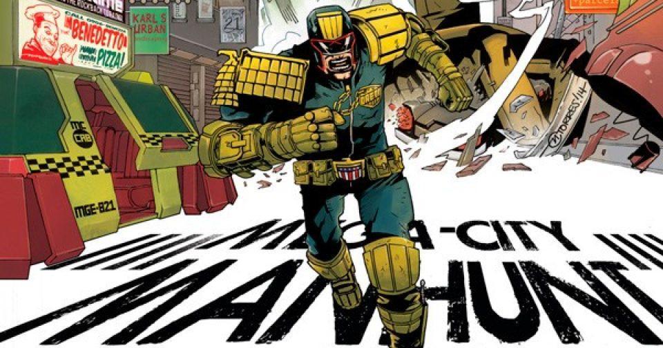 Оригинальная обложка комикса судья дредд 028 (IDW)