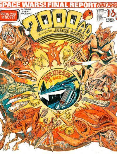 Обложка журнала 2000 ad #0238