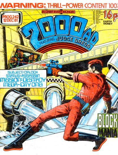 Обложка журнала 2000 ad #0242