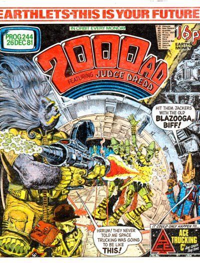 Обложка журнала 2000 ad #0244