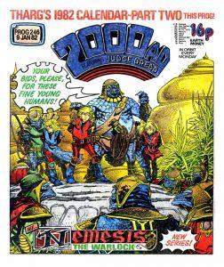 Обложка журнала 2000 ad #0246