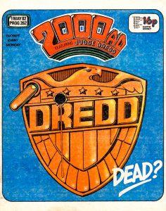 Обложка журнала 2000 ad #0262 с судьёй Дреддом