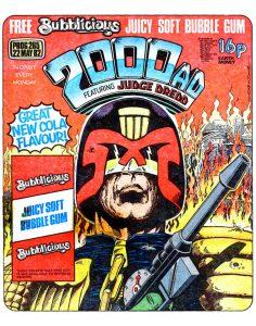 Обложка журнала 2000 AD #0265 с судьёй Дреддом