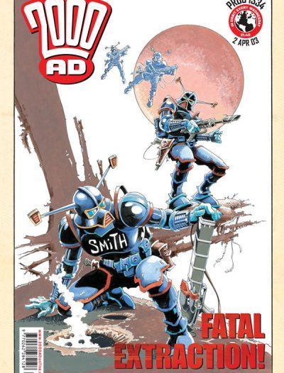 Обложка журнала 2000 ad #1334