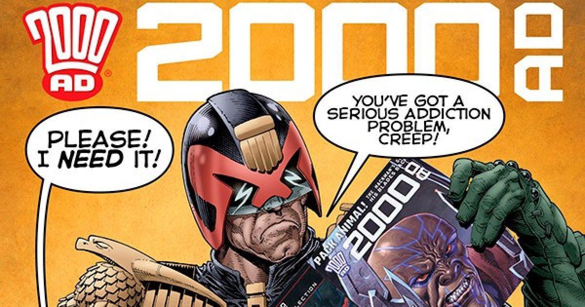 Обложка журнала 2000 ad #2127