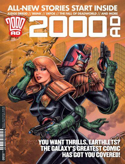 Обложка журнала 2000 ad #2150