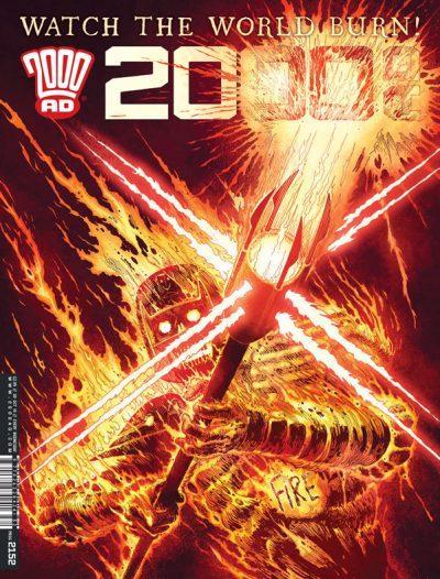 Обложка журнала 2000 ad #2152