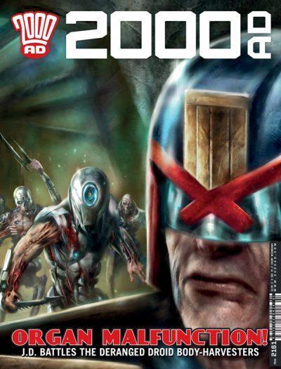Обложка журнала 2000 ad #2161