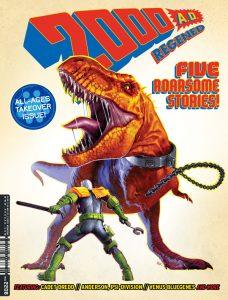 Обложка журнала 2000 ad #2206 с курсантом Дреддом
