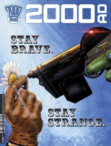 Обложка журнала 2000 ad #2211 с судьёй Дреддом