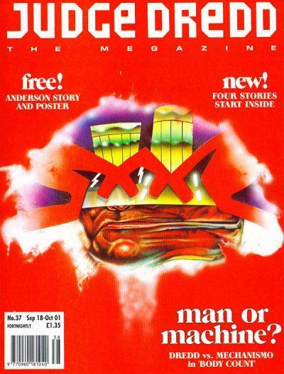 Обложка журнала judge dredd megazine #057 (2.37)