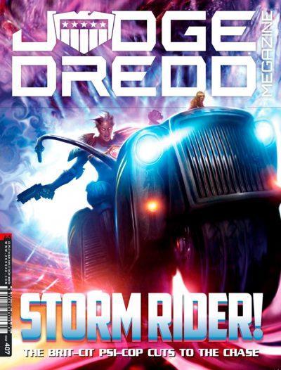 Обложка журнала judge dredd megazine #407