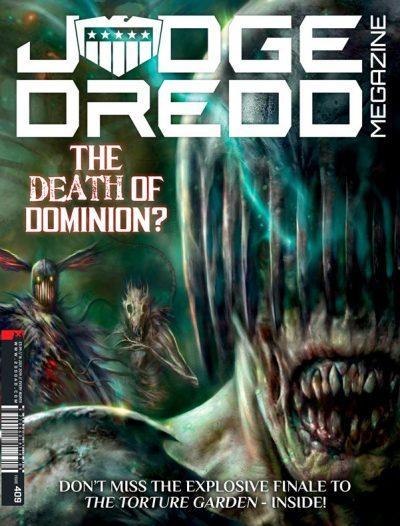 Полная обложка журнала judge dredd megazine #409