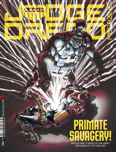 Обложка журнала judge dredd megazine #411
