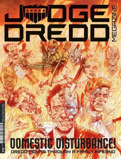 Обложка журнала judge dredd megazine #413