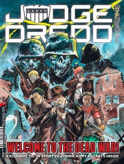 Обложка журнала judge dredd megazine #416