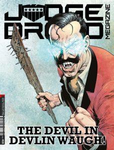 Обложка журнала judge dredd megazine #419