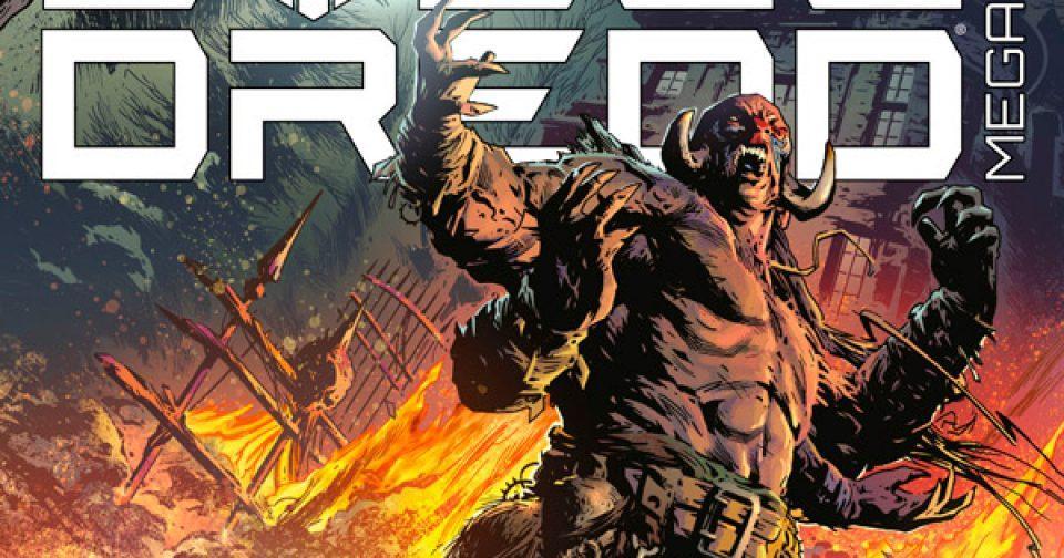 Обложка журнала judge dredd megazine #421