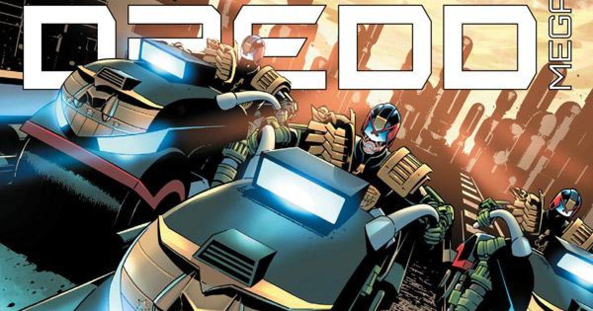 Обложка журнала judge dredd megazine #422, судя Дредд