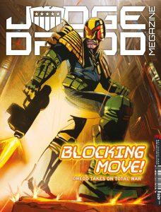 Обложка журнала judge dredd megazine #426, судя Дредд