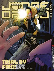 Обложка журнала judge dredd megazine #428, судя Дредд