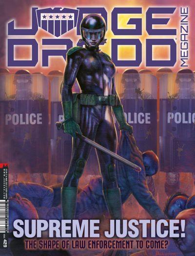 Обложка журнала judge dredd megazine #429, Дредноуты