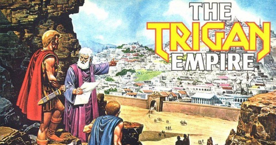 кадр с названием из комикса Империя Триган