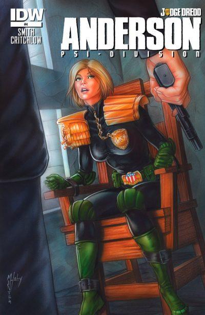 Оригинальная обложка комикса Андерсон — пси подразделение №04 (IDW)