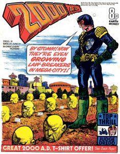 Обложка журнала 2000 ad #0018
