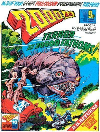 Обложка журнала 2000 ad #0028