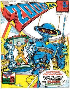 Обложка журнала 2000 ad #0037