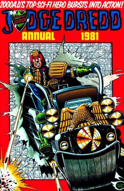 Обложка журнала Judge Dredd Annual 1981