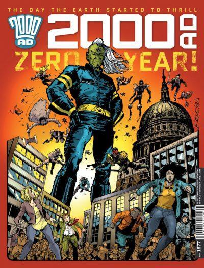 Обложка журнала 2000 ad #1977