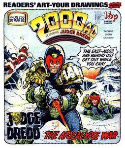 Обложка журнала 2000 ad #0256 — Судья Дредд, Война Апокалипсиса