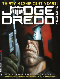 Обложка журнала judge dredd megazine #424, судя Дредд