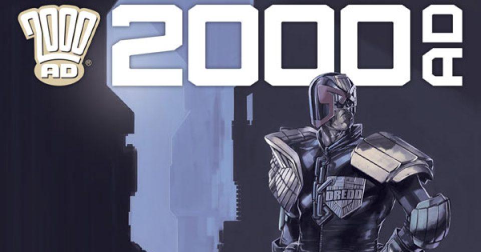Обложка журнала 2000 ad #2203 с судьёй Дреддом