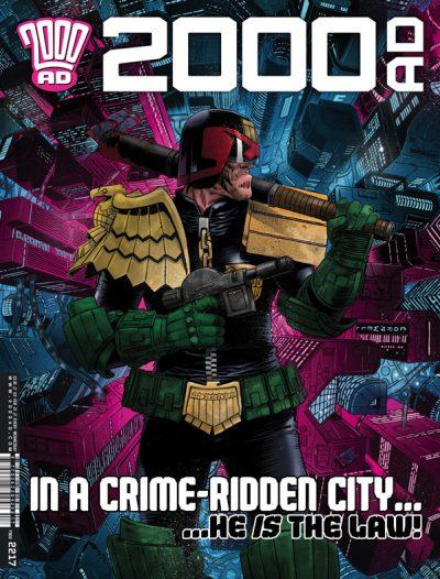 Обложка журнала 2000 ad #2217