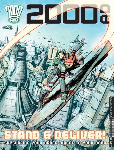 Обложка журнала 2000 ad #2219