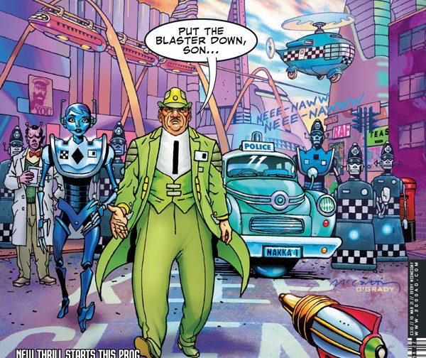 Обложка журнала 2000 ad #2222